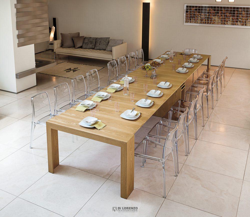 Tavolo consolle venere 5mt arredamenti di lorenzo napoli for Point tavoli