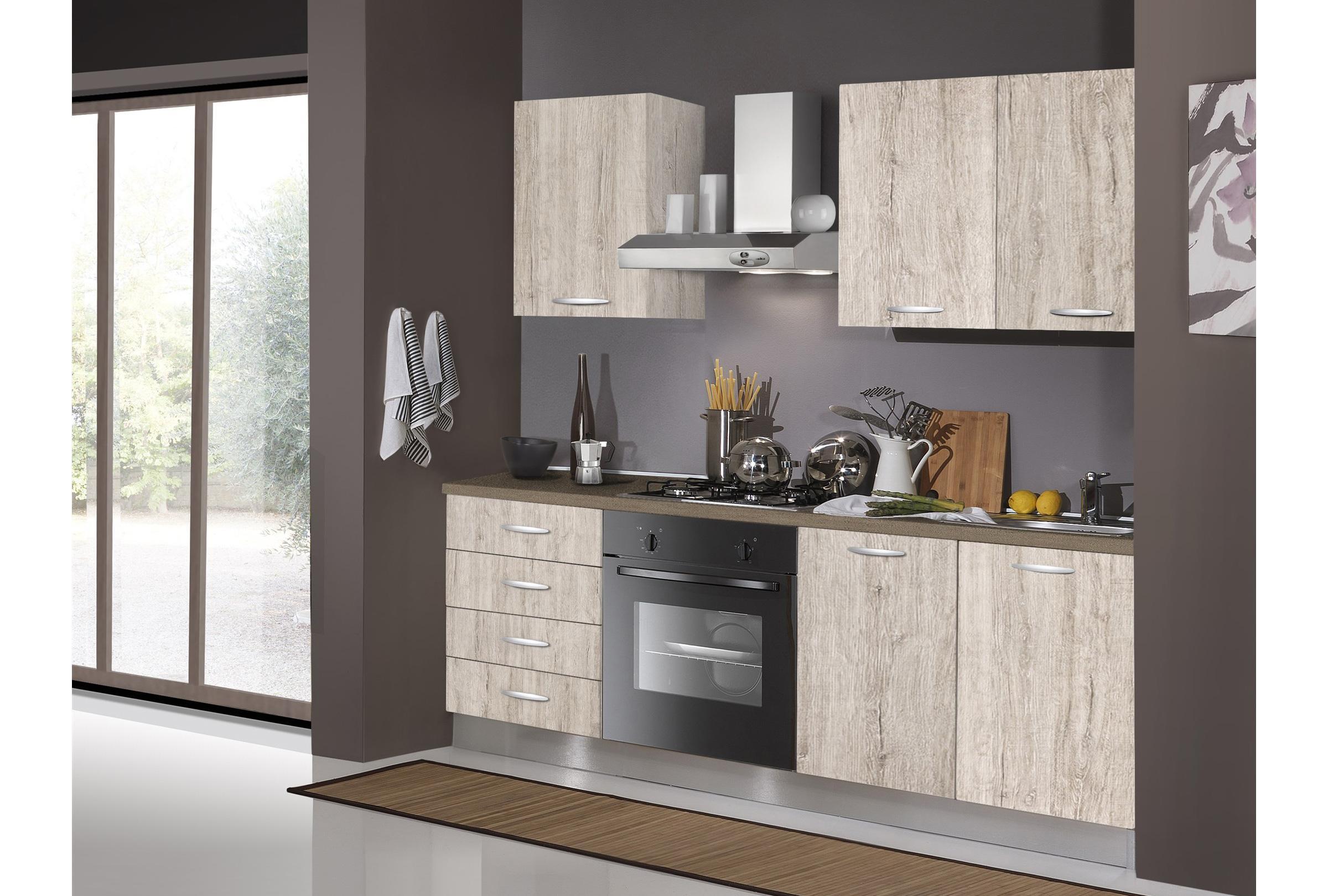Cucina Monoblok 195 cm   Arredamenti Di Lorenzo Napoli