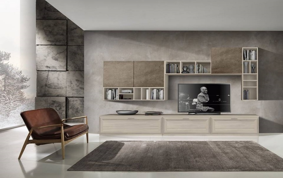 Pareti attrezzate contemporanee arredamenti di lorenzo for Soggiorni pareti attrezzate