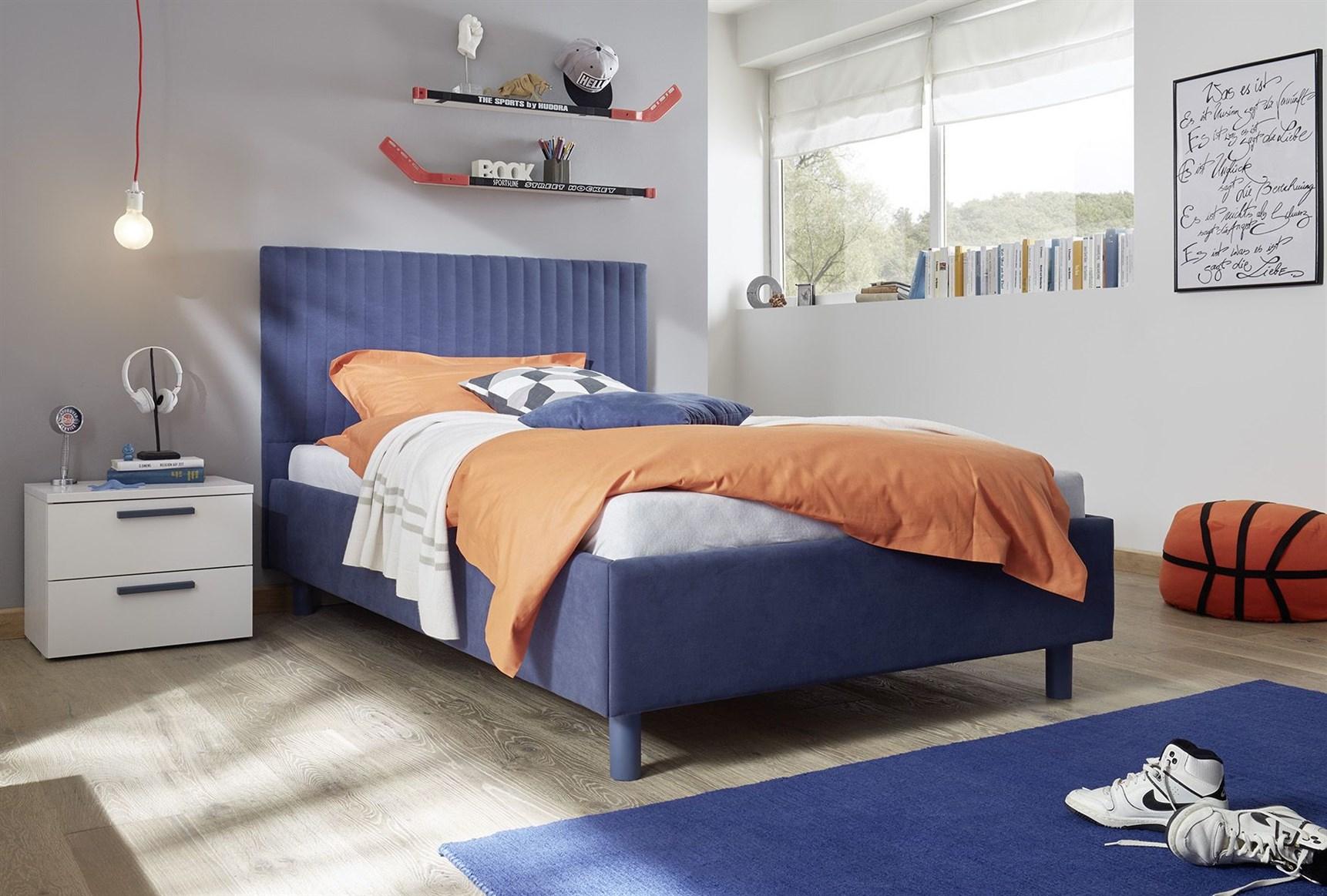 Enjoy Milieu 4 Blau Bett Einzel