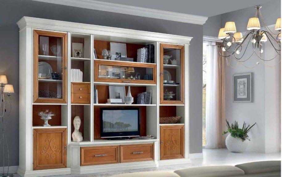 Pareti attrezzate classiche arredamenti di lorenzo napoli - Mobili pareti attrezzate classiche ...