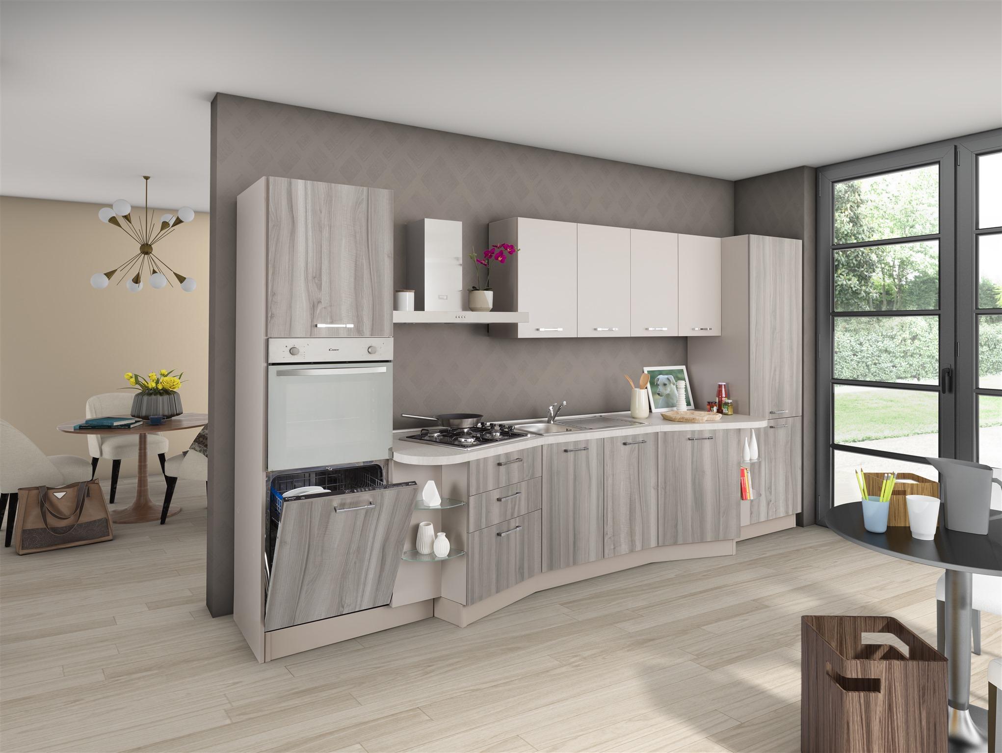 Cucina New Smart Farfalla 4 con lavastoviglie | Arredamenti Di ...