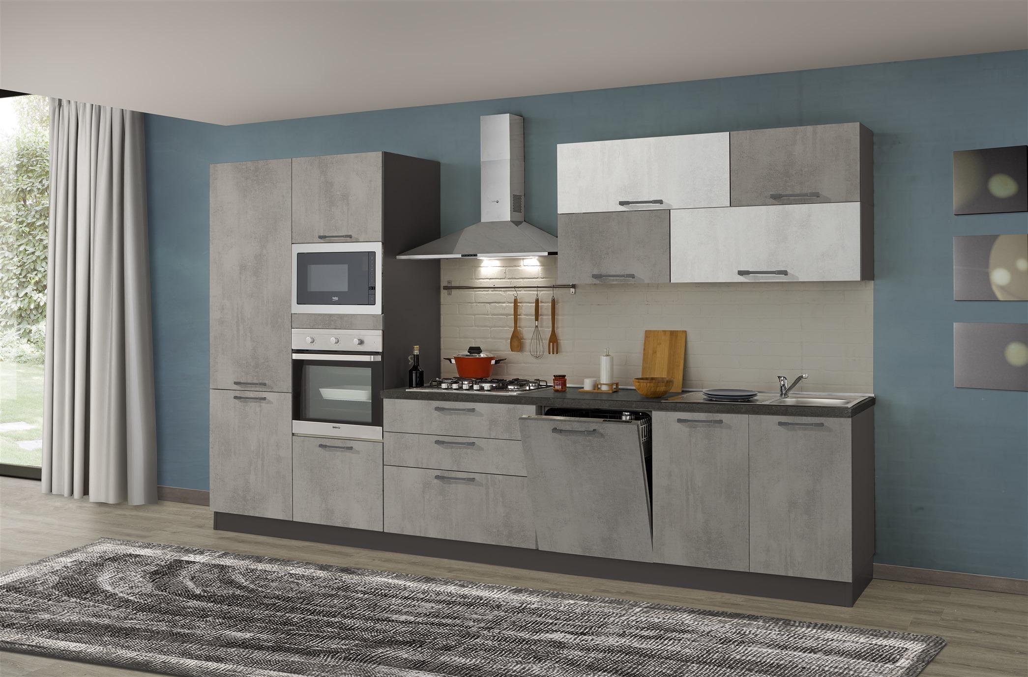 Cucina Kira 360 Micro cemento | Arredamenti Di Lorenzo Napoli
