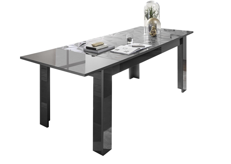 Prisma Anthrazit_Freisteller Tisch mit Ansteckplatte