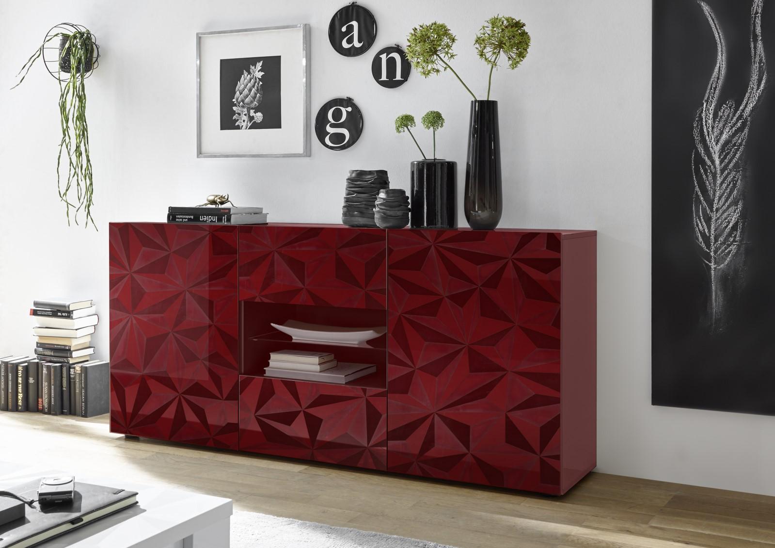 Prisma Rot_Sideboard 2T+2SK 181cm 206699-07
