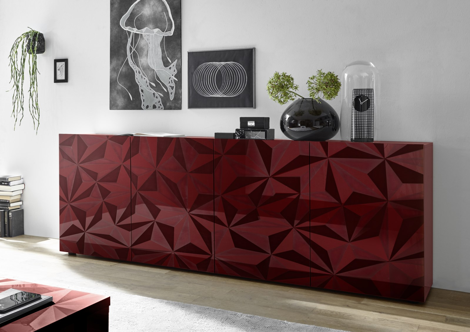Prisma Rot_Sideboard 4T 241cm 206699-09