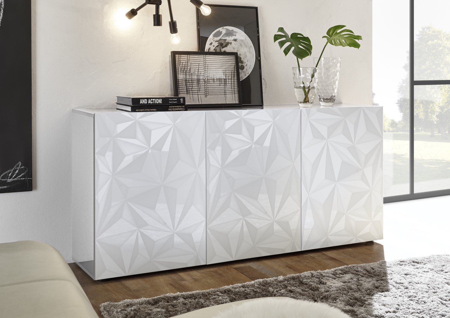Prisma Weiss_Sideboard 3T 181cm 209099-05