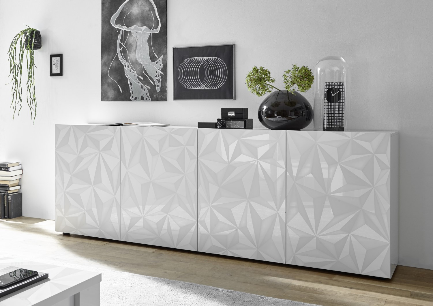 Prisma Weiss_Sideboard 4T 241cm 209099-09