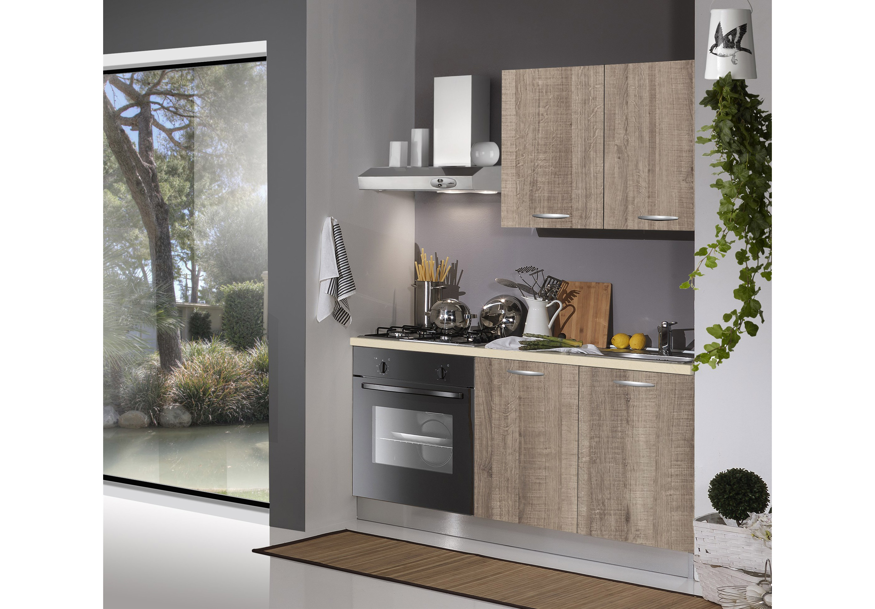 Cucina monoblok 150 cm arredamenti di lorenzo napoli for Arredamenti moderni cucine