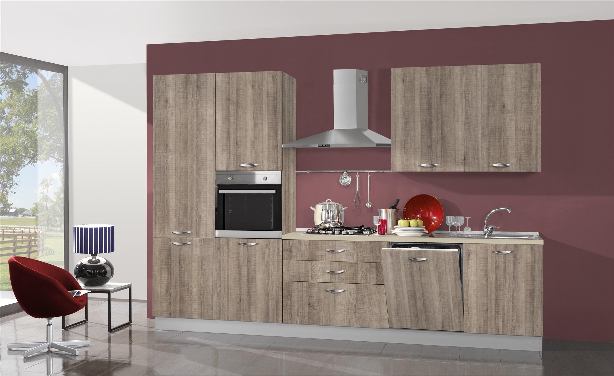 Cucina Moderna Con Lavastoviglie.Cucina Giove 330 Con Lavastoviglie