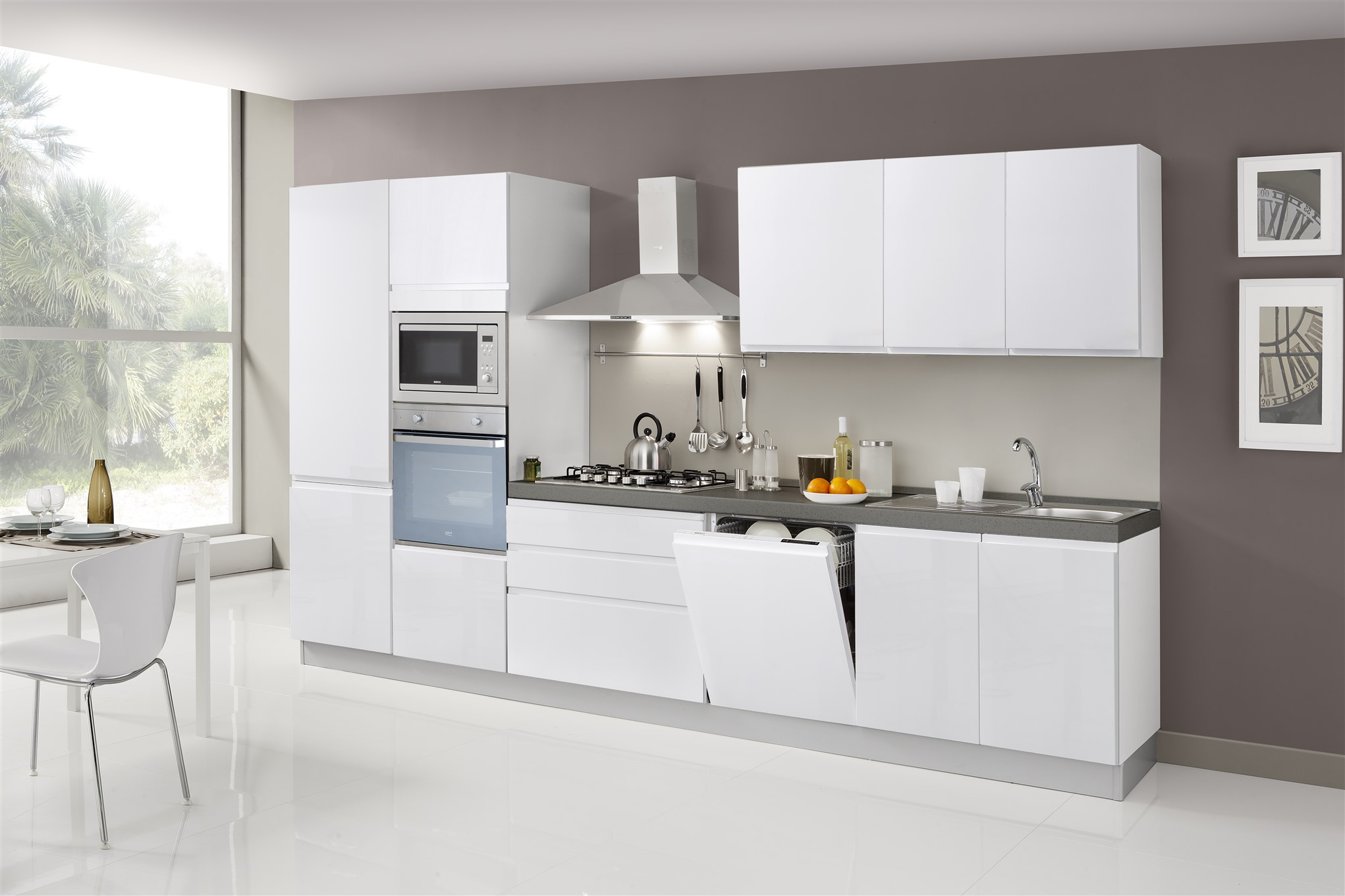 Cucina kelly micro arredamenti di lorenzo napoli for Arredamenti moderni cucine