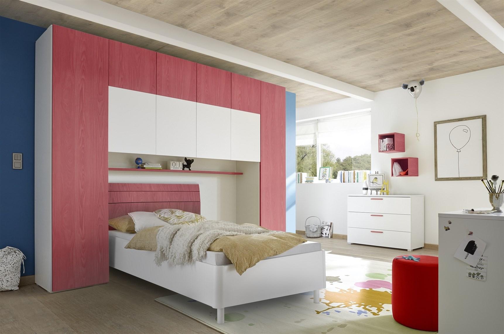 Camera Matrimoniale A Ponte Offerte.Cameretta Ponte Enjoy 2 Bianco Opaco E Rosso Venato Arredamenti