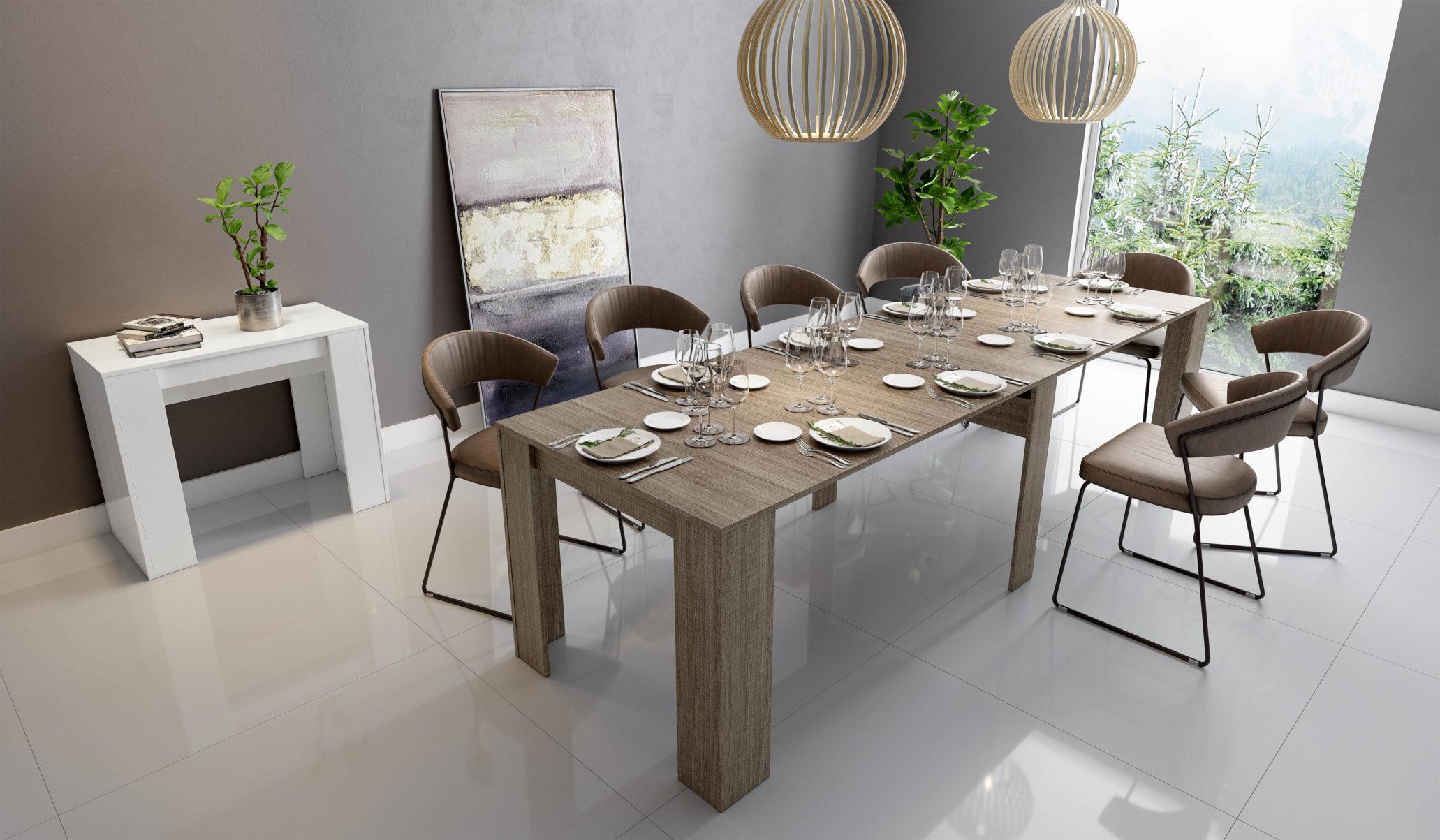 Tavolo Da Pranzo 3 Metri tavolo consolle max allungabile a 3 mt