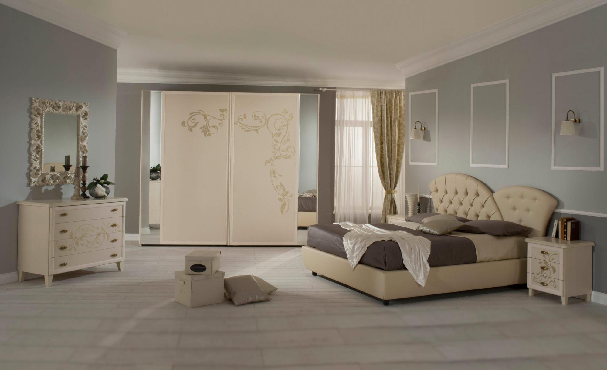 La camera da letto matrimoniale con letto contenitore in pelle ...