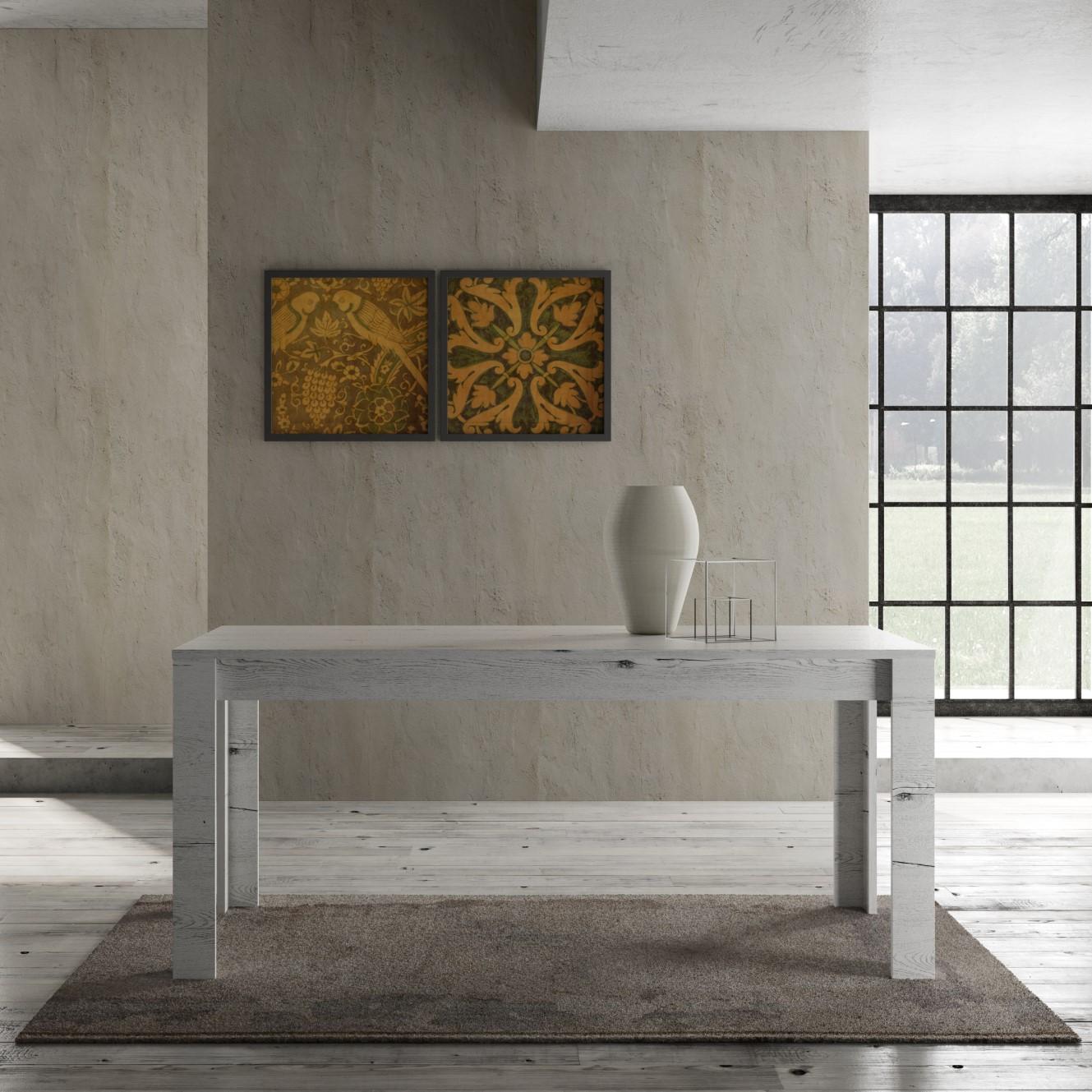 Land minimale_tavolo_180X90_fisso-allungabile_bianco