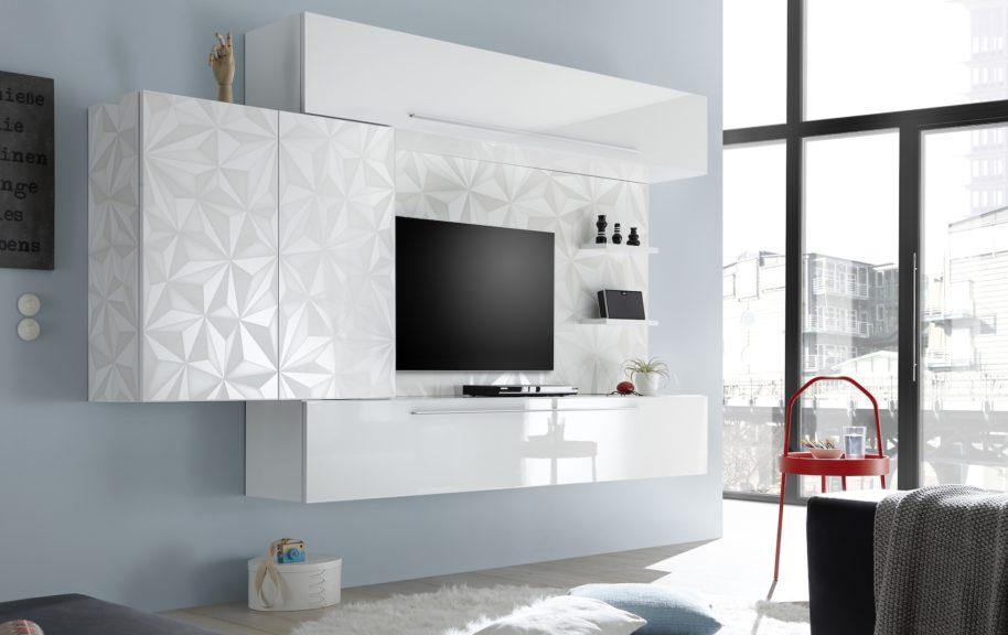 Pareti attrezzate moderne arredamenti di lorenzo napoli for Pareti tv moderne