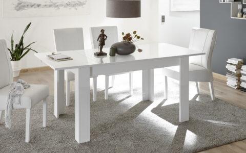 Tavolo 137 bianco Bianco Lucido